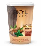 Biol Vitality Almond and Mint Keratin Hair Mask for Damage and dandruffy Hair